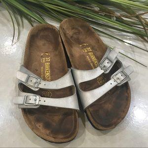 Birkenstock Silver Sandals Size 37 US 7